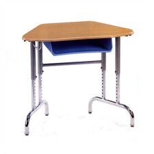 7900 Series Plastic Trapezoid Desk with Book Box