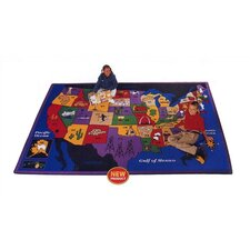 Children's Discover America Kids Rug