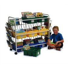Deluxe Library Book Browser Cart 9 Compartment Cubby
