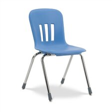 "<strong>Virco</strong> Metaphor Series 16""  Plastic Classroom Glides Chair"
