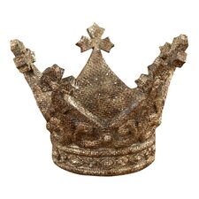 Chateau Glittered Antique Crown