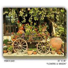 Flower Wagon Photographic Print on Canvas