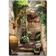 <strong>West of the Wind Outdoor Canvas Art</strong> Aragonese Arches Outdoor Canvas Art
