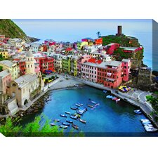 Overlook Vernazza Photographic Print on Canvas
