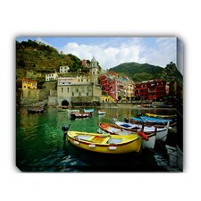 Boat in Vernazza Outdoor Canvas Art