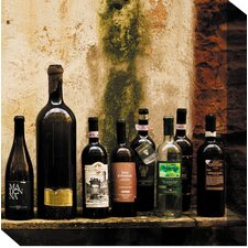 <strong>West of the Wind Outdoor Canvas Art</strong> Wine on Shelf #2 Outdoor Canvas Art