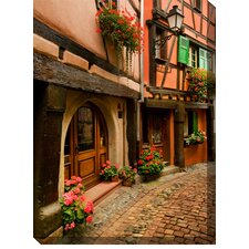 Cobblestone Way Photographic Print on Canvas