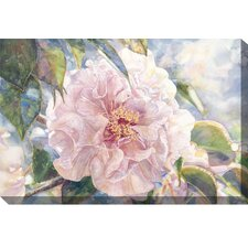 <strong>West of the Wind Outdoor Canvas Art</strong> Pink Parade Watercolor Outdoor Canvas Art