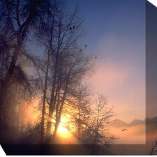 <strong>West of the Wind Outdoor Canvas Art</strong> Serene Sunrise Outdoor Canvas Art