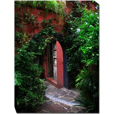 <strong>West of the Wind Outdoor Canvas Art</strong> Hidden Door Outdoor Canvas Art
