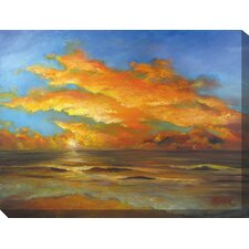 Tasman Sunset Painting Print on Canvas