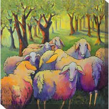 <strong>West of the Wind Outdoor Canvas Art</strong> Knitting Circle Art Painting