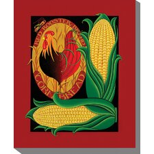 Red Rooster Cornbread Graphic Art on Canvas