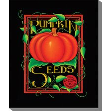 <strong>West of the Wind Outdoor Canvas Art</strong> Pumpkin Seeds Art Painting