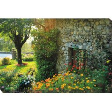 Cobblestone Garden Photographic Print on Canvas