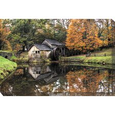 Old Mill Photographic Print on Canvas