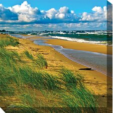 <strong>West of the Wind Outdoor Canvas Art</strong> Windy Beach Art Painting