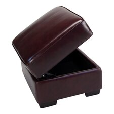 <strong>Opulence Home</strong> Giorgio Leather Storage Ottoman