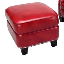 Madrid Leather Storage Ottoman