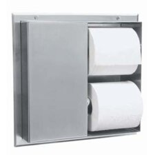 Partition-Mounted Multi-Roll Toilet Tissue Dispenser (Serves 2 Compartments)