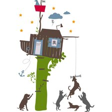 35 Piece Boys Tree House Wall Decal Set