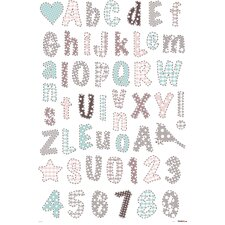 Romantic Alphabet Wallstickers