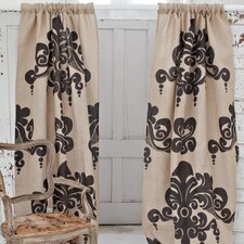 Enchantique Jute Rod Pocket Curtain Single Panel