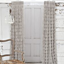 Chichi Solid Petal Rod Pocket Sheer Curtain Single Panel