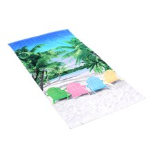 Tropical Chairs Beach Towel