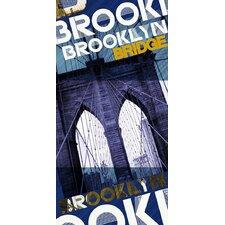Brooklyn Bridge New York Beach Towel