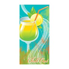 Chill Out Printed Beach Towel