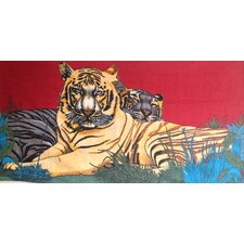 Two Tigers Printed Beach Towel