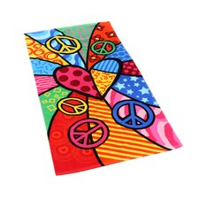 Peace Heart Beach Towel