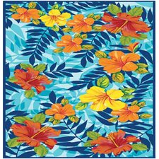 <strong>Kaufman Sales</strong> Hawaiian Tropical Sunset Beach Towel