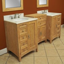 "<strong>Westport Bay</strong> Elmhurst 86"" Double Basin Vanity Set"