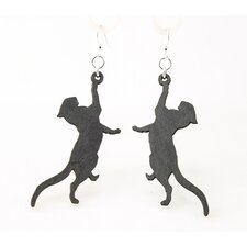 <strong>Green Tree Jewelry</strong> Playful Cat Earrings
