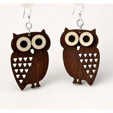 <strong>Green Tree Jewelry</strong> Little Hoot Owls Earrings