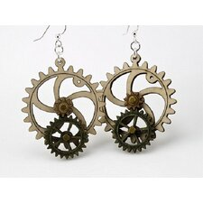 <strong>Green Tree Jewelry</strong> Kinetic Gear 1 Earrings