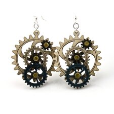 Kinetic Gear 3 Earrings