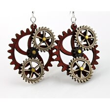 <strong>Green Tree Jewelry</strong> Kinetic Gear 5 Earrings