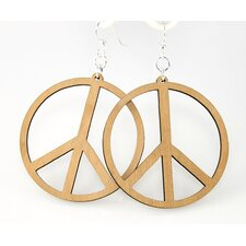 <strong>Green Tree Jewelry</strong> Large Peace Signs Earrings