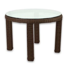 Signature Dining Table Round with Tempered Glass Top