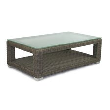 <strong>Patio Heaven</strong> Palisades Coffee Table with Tempered Glass Top