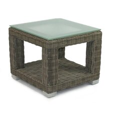 <strong>Patio Heaven</strong> Palisades End Table Base with Tempered Glass Top