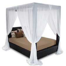 <strong>Patio Heaven</strong> Signature Queen Canopy Bed with Cushions