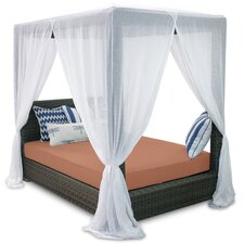 <strong>Patio Heaven</strong> Palisades Queen Canopy Bed with Cushions