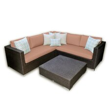 <strong>Patio Heaven</strong> Skye Vienna 3 Piece Deep Seating Group with Cushions