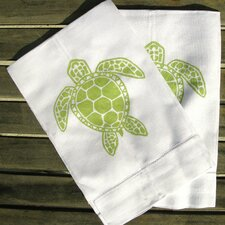 <strong>Lowcountry Linens</strong> Sea Turtle Guest Towel