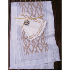 Fretwork Runner and Rope Dinner Napkin Set