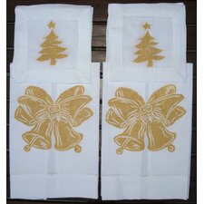 Bells Guest Towel and Tree Cocktail Napkin Set